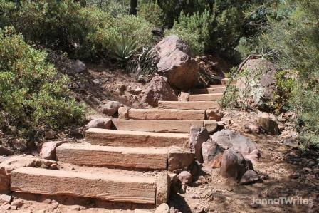 Stairs at Natural Bridge State Park (AZ)