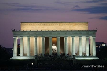 Lincoln remembered larger than life.  Lincoln Memorial is huge!
