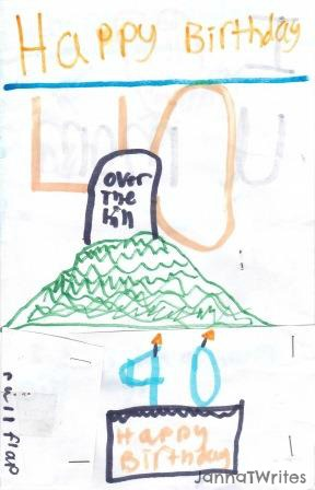 My questions confirmed that this indeed is a drawing of a hill with a gravestone on top!