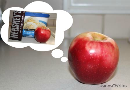Wouldn't an apple go better with chocolate, or ice cream - or peanut butter?